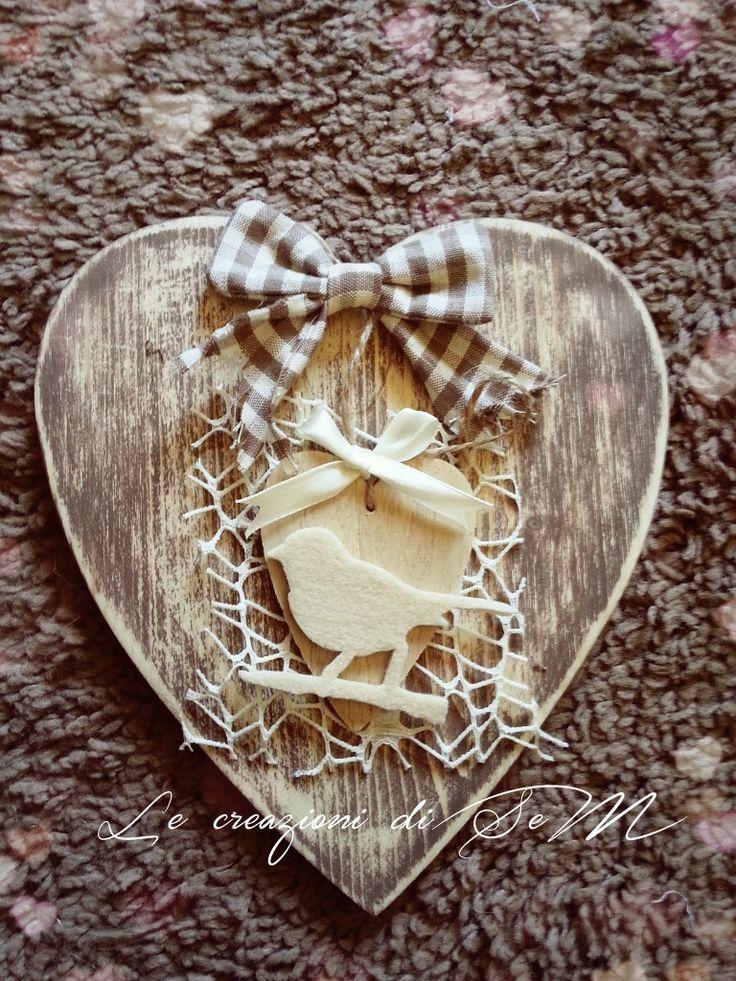 cuori di legno con fioru : ... more cuori legno decorati diy ideas cuore su idee di legno con il