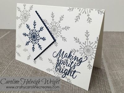 CraftyCarolineCreates: Christmas Card using Tin of Tags by Stampin' Up