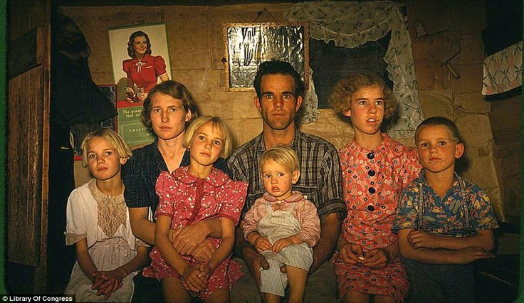 Rare photographs show the historically bleak Great Depression in vivid color.
