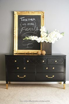 10 Beautiful Black Dresser Makeovers (you should try)                                                                                                                                                     More
