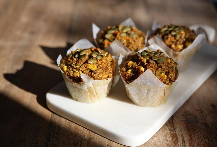 TURMERIC AND VEGETABLE QUINOA MUFFINS