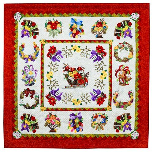 Applique, 1st Place: Sleigh Ride by Michele Byrum, quilted by Laurel Keith.  2013 Northwest Quilting Expo.