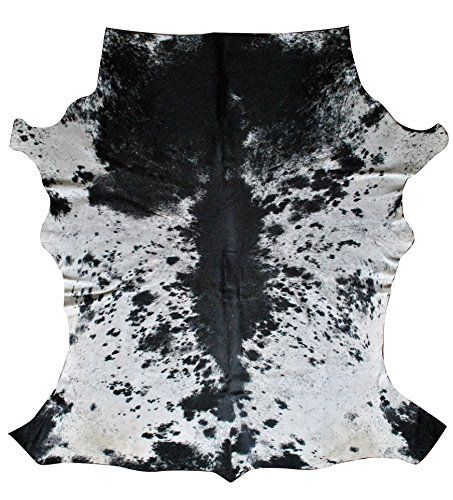 Nguni Cowhide Rug from South Africa, Unique black and white cow hide rug by Herdboi
