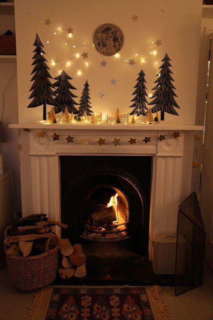 DIY Christmas Fireplace Design