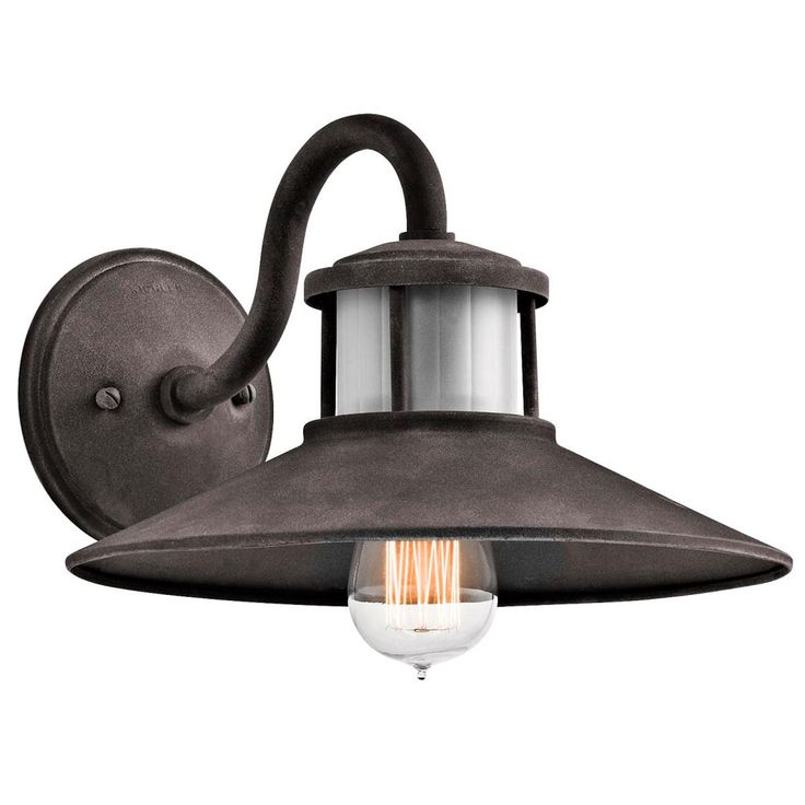 Exterior Wall Lights Industrial : Exterior Garage option - Weathered Zinc Industrial Wall Lantern - Large - 100 watt Farm Ideas ...