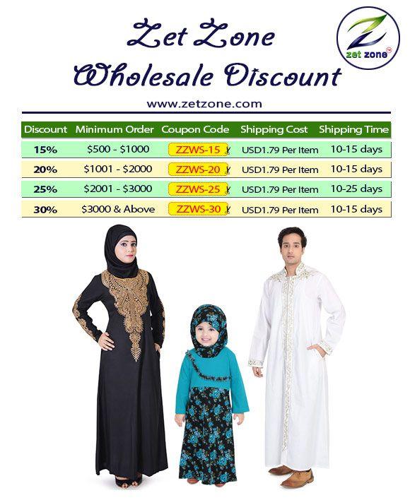 Wholesale Discount upto 15% to 30% OFF By Zet Zone Shop Now » https://www.zetzone.com/women/islamic-clothing #Abaya #Islamic #Muslim #Galabiyya #KidsAbaya #Maxi #IslamicDress #Kaftan #Hijab #KurtaPajama #Tunic #Burqa
