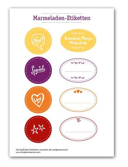 Marmeladen Etiketten zum Ausdrucken, endlich auch in schön