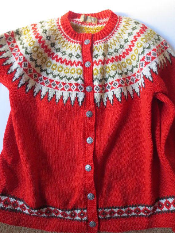 Lulle Otterstad Norwegian Cardigan Sweater Bright by JackpotJen