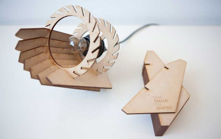 Mini-Spot Wooden Table Lamp by Van Tjalle en Jasper made in The Netherlands on CrowdyHouse