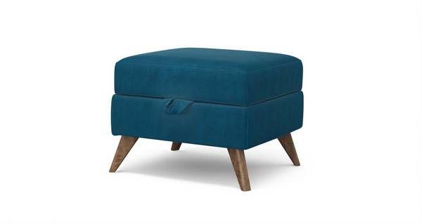 Lull Storage Footstool Velvet | DFS
