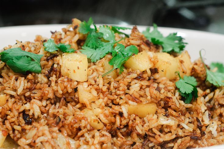 Red Curry Fried Rice with Seared Pineapple. I swear I'll find a recipe better than Ethan's one of theses days!!!