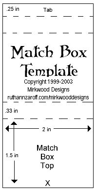 match box template