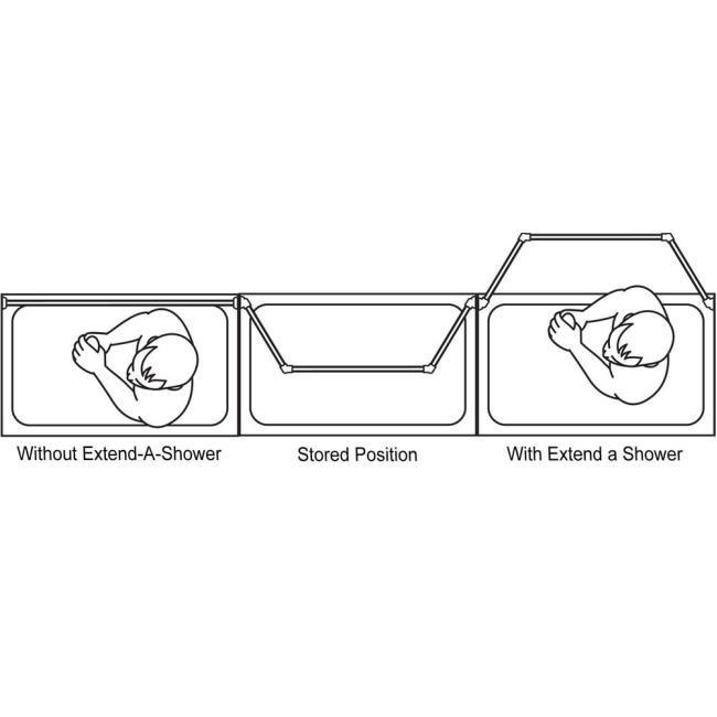 Extend A Shower Expanding Shower Rod White Finish Stromberg