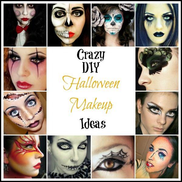 DIY Halloween Makeup Ideas #halloweenmakeup #DIYhalloween http://parties365.com/2013/09/26/crazy-diy-halloween-makeup-ideas/