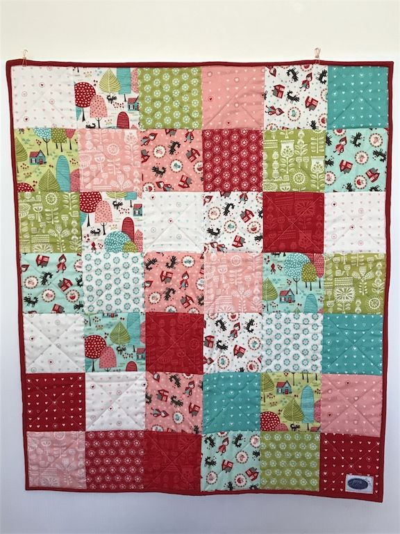 This gorgeous lil red bassinet quilt measures 76cm x 70cm and has been made using the traditional 3 layer method, it has then been quilted and finished with 2-fold binding to ensure it is lasts from baby to beyond. AUD $135