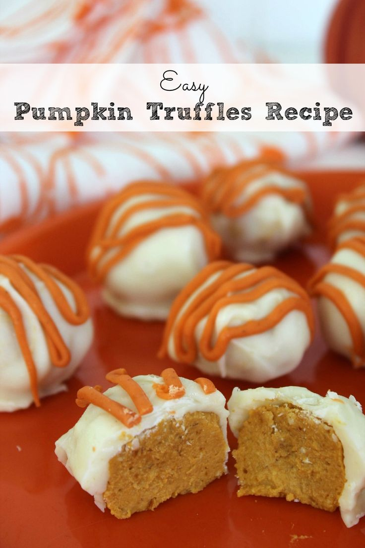 I stinkin' love truffles but until this year, I had never even hear of (much less tried) making pumpkin truffles.  These are my new favorite pumpkin treat!