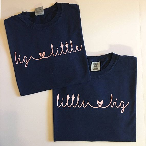 Big Little Shirts/Big Little Comfort Color Shirts/Big Little