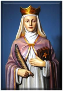 Saint Margaret of Scotland, married to King Henry 1, of England on Nov. 1, 1100. She was canonized by Pope Innocent in 1250. She is the Patron Saint of Arts & Education, and very charitable works. She was from Scotland and buried there. She is my 27x ggm. vc  feast day June 10th.
