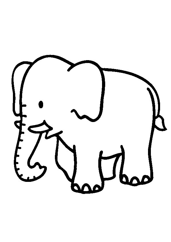 Elephant Coloring Page 04 For Kids And Adults From Mammals Pages