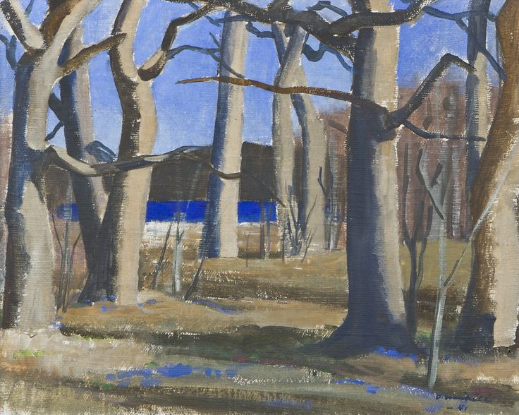 Otto Mäkilä: Varhaiskevät, 1941, öljy, 33x41 cm- Hagelstam A135