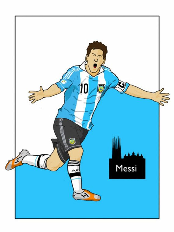 This listing is for a 16 x 12 print of my Lionel Messi Argentina artwork. Printed on a quality matt photo paper, this is perfect for framing.
