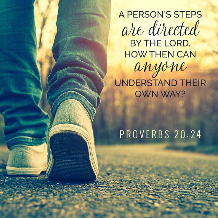 """A person's steps are directed by the Lord. How then can anyone understand their own way?"" Proverbs 20:24 #BibleVerse ""LivingWell #Inspiration"