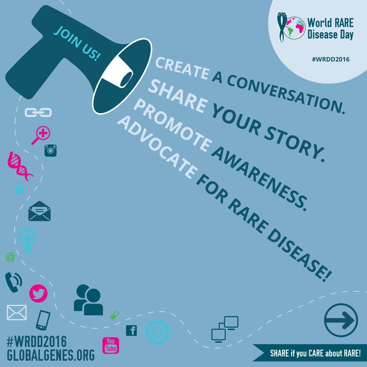 Share now to advocate for rare disease!
