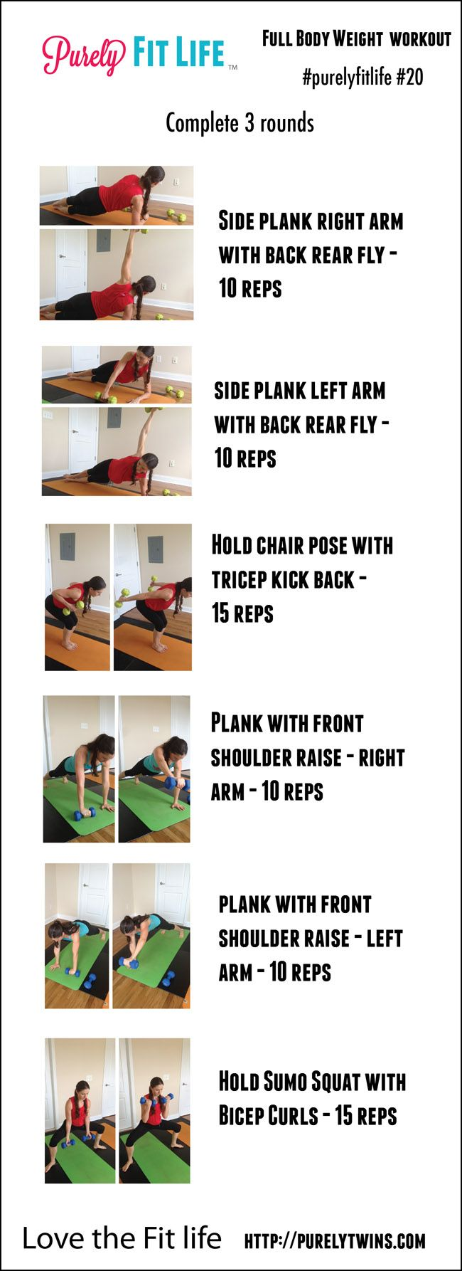 Full body free weight #workout great for a strong back and core #purelyfitlife 20 #fitfluential