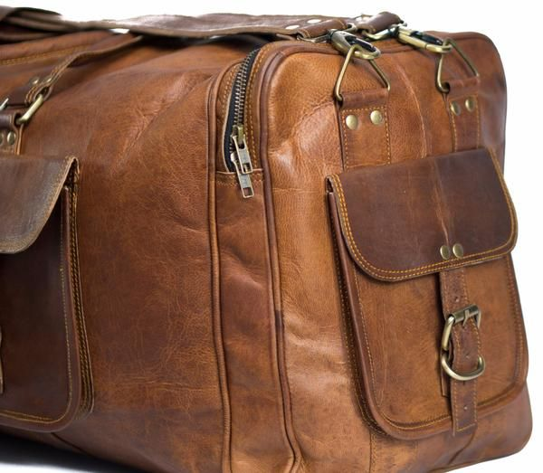 Buy Vintage Leather Weekender Bag! High Quality with Fast and Free Shipping Australia Wide. Best Handmade Bag in Australia. Available With Afterpay and Zippay.