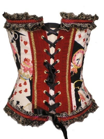 Alice in Wonderland corset - Normally I'm thoroughly over the sexualization of poor old Alice Liddell, but this is just so well-designed.