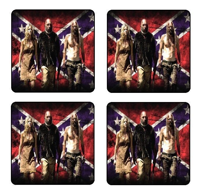 The Devils Rejects Coaster & Holder Set Of 4 - Gloss Hardboard Free Stand