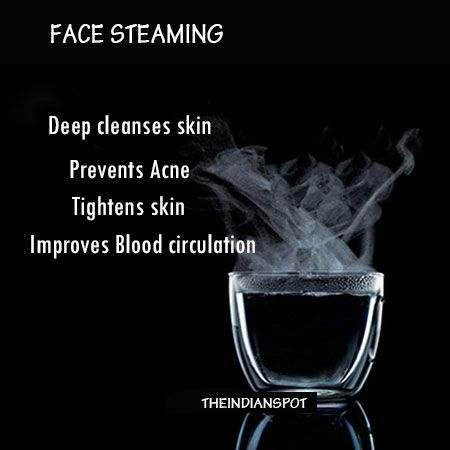 Face steaming is very old but effective remedy for healthy looking skin. If you visit parlors, after every facial steaming is done for extra benefits. Steaming is done during a spa facial but you can easily do face steaming at home because it's super easy and inexpensive. The steam can work magic on your skin