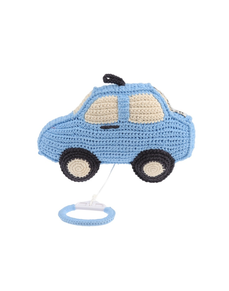 The Anne Claire Petit Car is a sky blue music box, perfect for a bouncing baby boy. Super soft, we love this designers range.