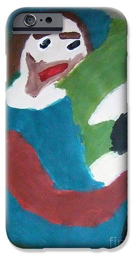 Patrick Francis IPhone 6s Case featuring the painting Man With A Feathered Hat 2014 by Patrick Francis