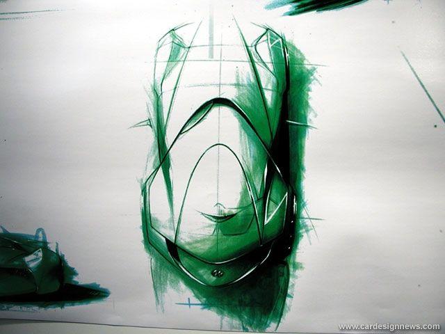 Car design drawing