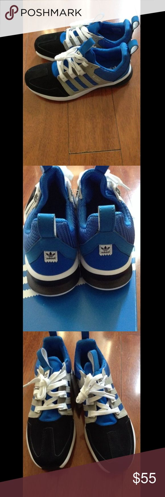 Men Adidas running shoes 👟 These are new, still in the box, offers are welcomed. If u have any questions feel free to ask. No returns so please ask all the question before purchasing. These are men shoes. Adidas Shoes Sneakers