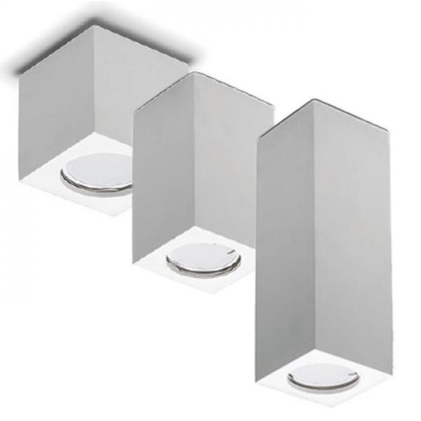Porta Faretto In Gesso Lampada A Plafone Moderno Gu10 Plafoniera Cubo 3 Misure Art Cubo7 13 19 Plafoniere Faretti Plafoniera