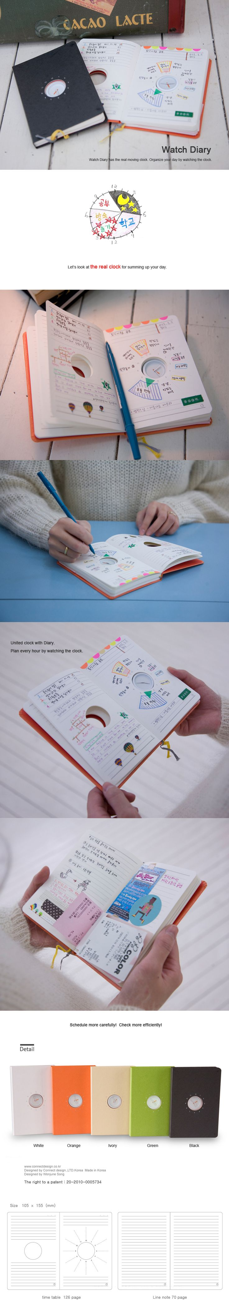 Pretty cool diary with build in watch. Found at Connect Design $17