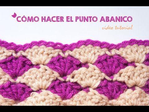Blog Acrochet Abanicos pequenhos 2 lados tecnica de crochet parte 1 - YouTube