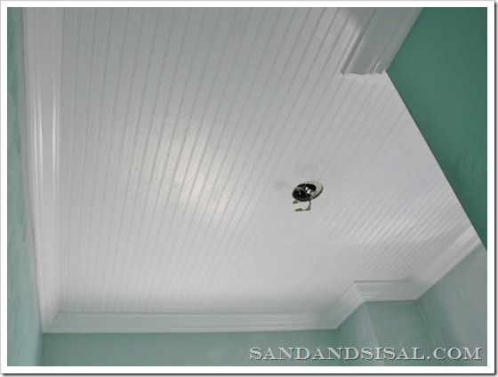 Installing a Bead Board Ceiling... I really like this idea, it makes everything look crisp and clean.