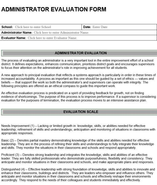 10 best images about Evaluation forms – Principal Evaluation Form