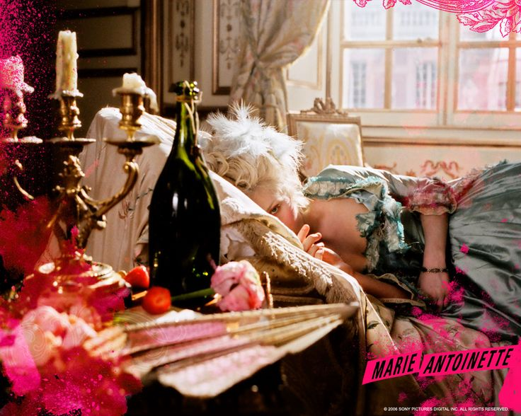 This is a still from  the Marie Antoinette movie. This shows where inspiration was drawn from for the Real Weddings Magazine Summer 2015 layout.