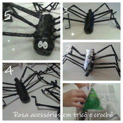 Adesivo Carenagem De Kart ~ pap como fazer aranha com jornal e garrafa pet Halloween Pinterest Pets