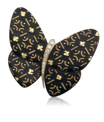 Waritsuke clip, Lacquered Butterflies collection