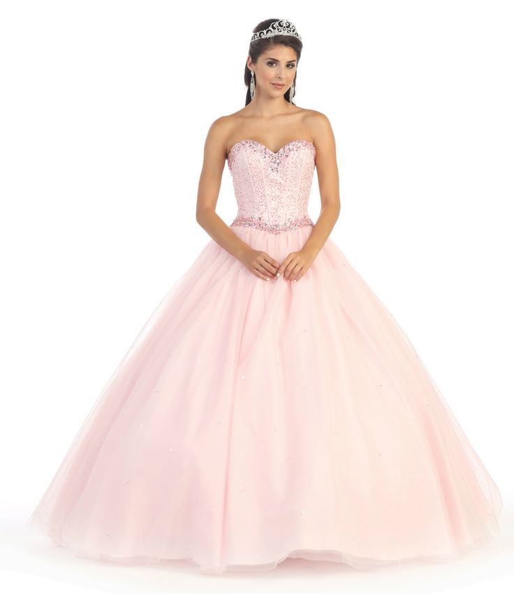 Long Strapless Corset Back Quinceanera with Bolero Ball Gown