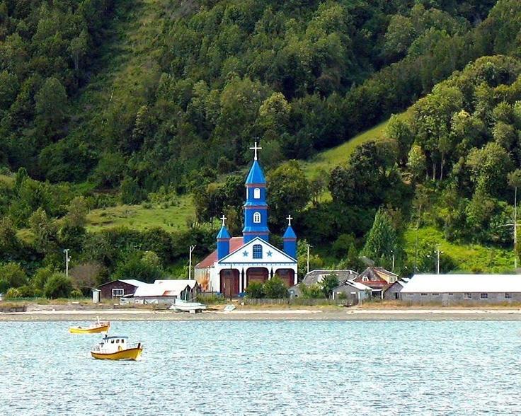 TENAUN CHURCH, Isla Grande Chiloe, South of Chile.