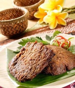 Empal or Gepuk~ Sometimes called empal gepuk, fried shredded beef in sweet spice from West Java.
