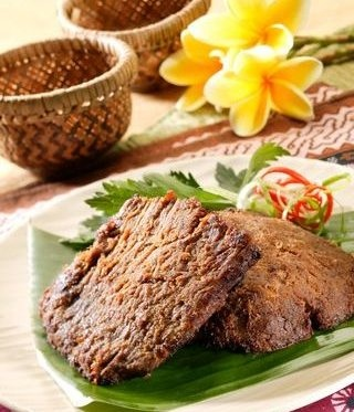 Empal or Gepuk~ Sometimes called empal gepuk, fried shredded beef in sweet spice from West Java.