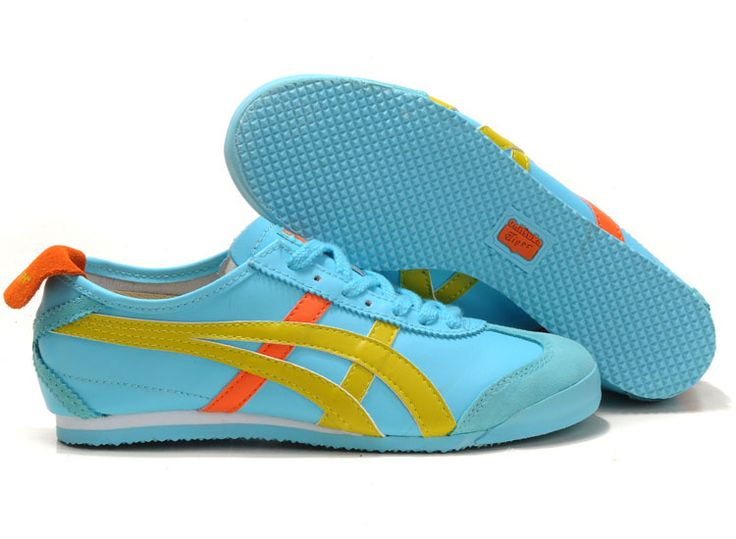 Cheap Onitsuka Tiger Mexico 66 Shoes Light Blue Yellow Orange Online Singapore