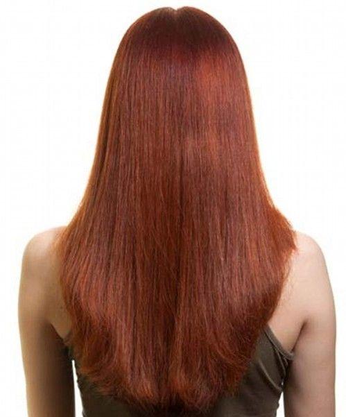 Long Bob Brown Hairstyles Back View